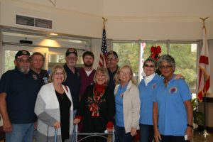 Christmas visit to veterans at William F Green
