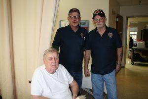 Don and Bob visiting veteran at WF Green