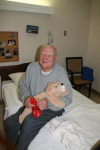 Veteran receiving his Christmas surprise